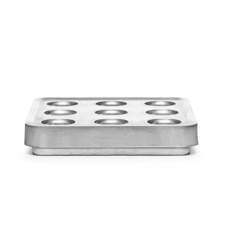 Born in Sweden - Stumpastaken Candleholder, small, aluminium