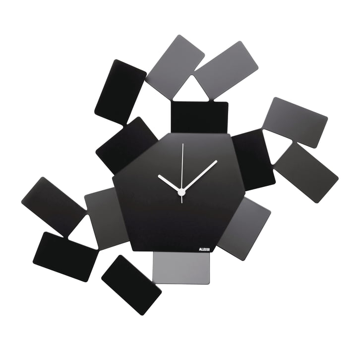 La Stanza Dello Scirocco wall clock by Alessi in black