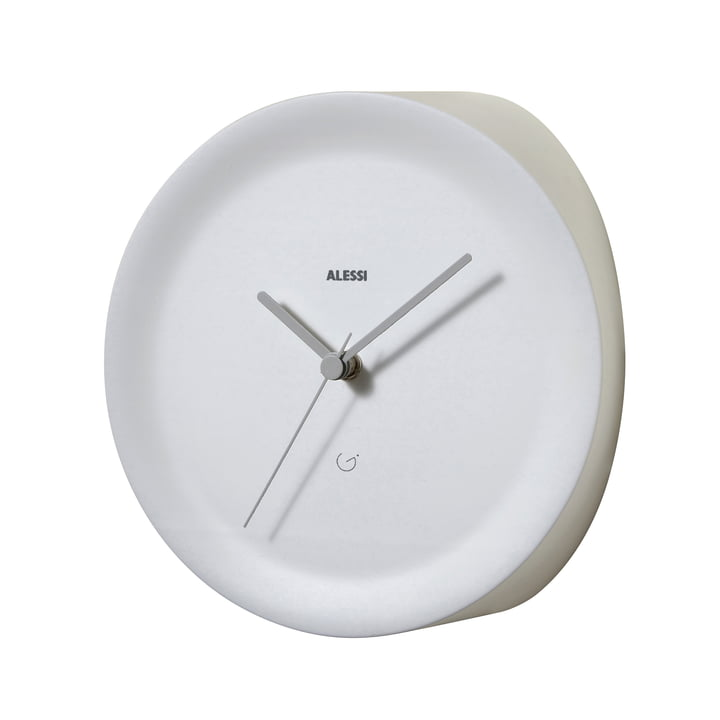 Ora Out corner clock by Alessi in white