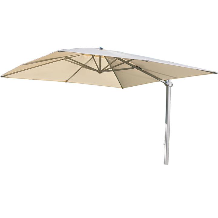Rectangular Cantilever umbrella 300 x 300cm by Weishäupl in natural Dolan