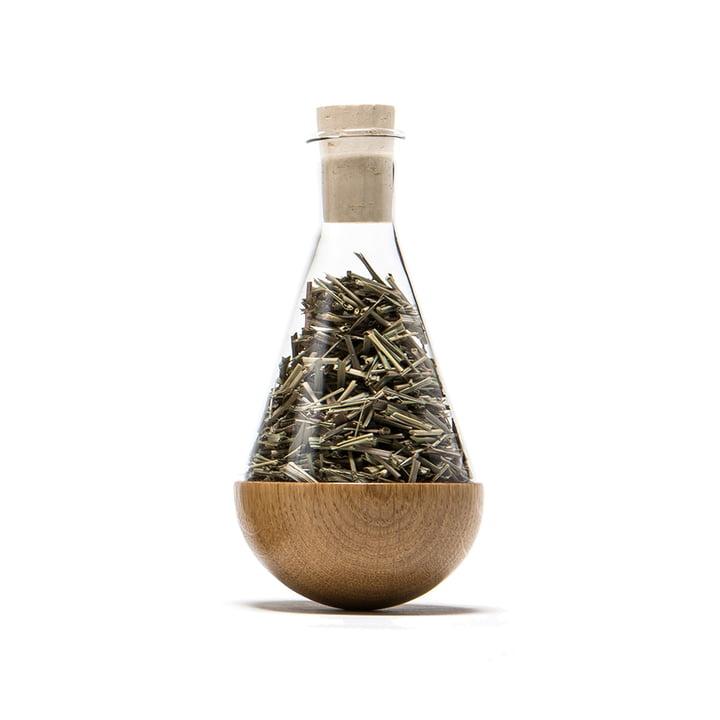 urbanature - wakeup herb jar, oak wood