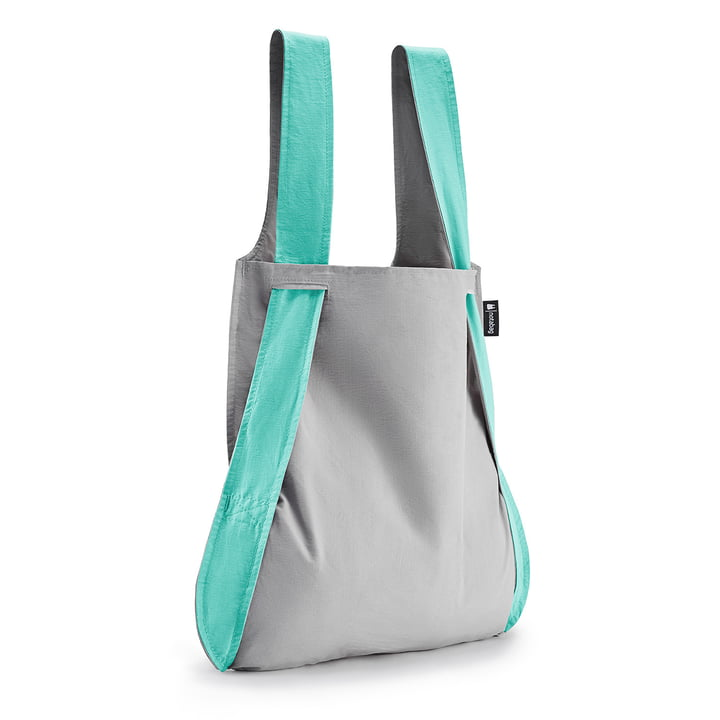 Notabag - bag and rucksack, mint/grey