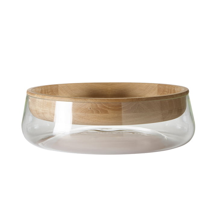Peruse - Double Bowl, small, oak oiled / glass clear