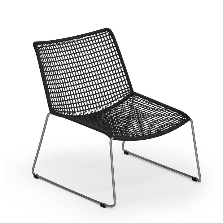 Slope Lounge Armchair by Weishäupl in black