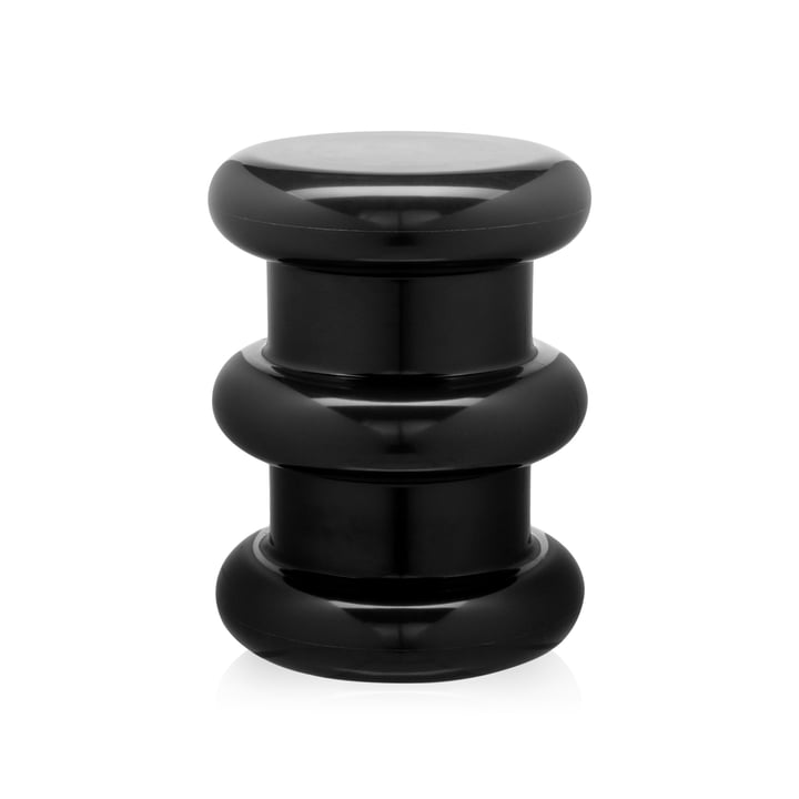 Pilastro Stool/Side Table by Kartell in black