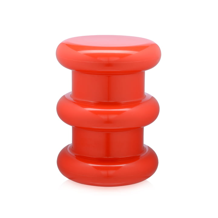 Pilastro Stool/Side Table by Kartell in Red