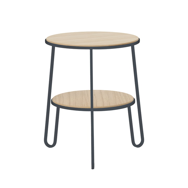 Anatole side table by Hartô in grey (RAL 7016)