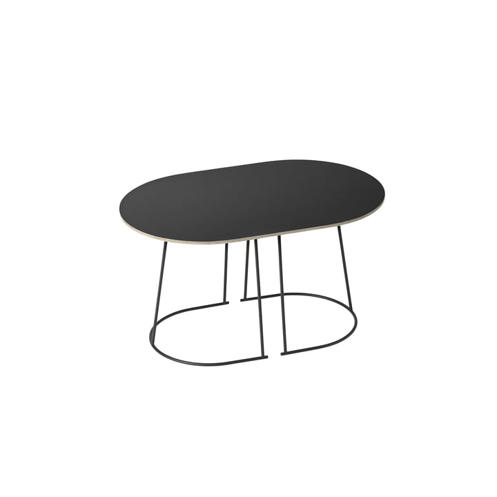 The Airy Coffee Table, small in black by Muuto