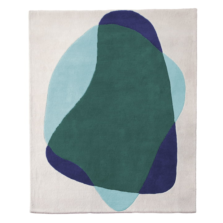 Serge Rug by Hartô in blue / green