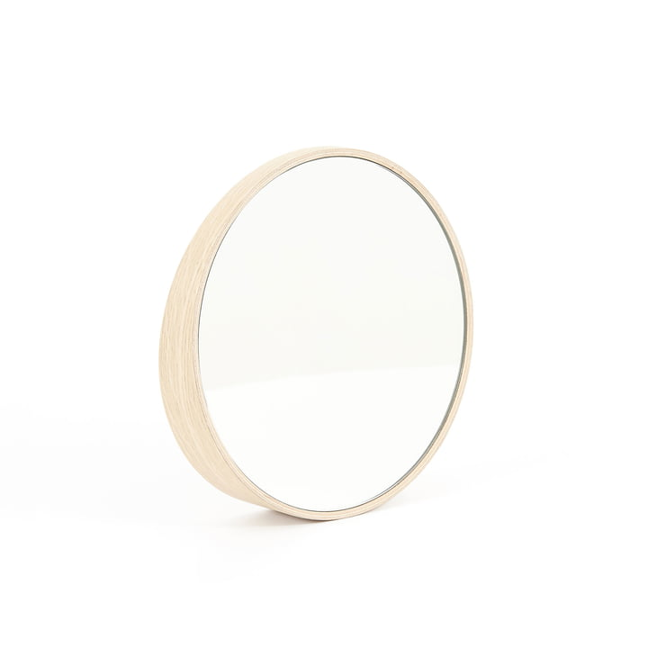 Odilon mirror 25 cm by Hartô in natural oak