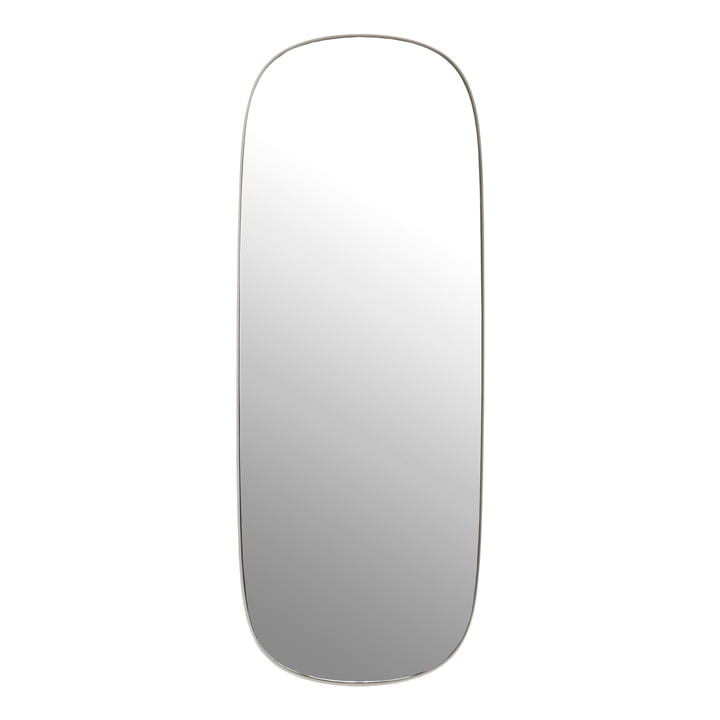 The Framed mirror, large in grey / clear glass by Muuto