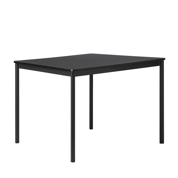 Base Table by Muuto in black with ABS edge