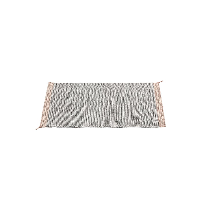 The ply rug 85 x 140 cm in black and white by Muuto