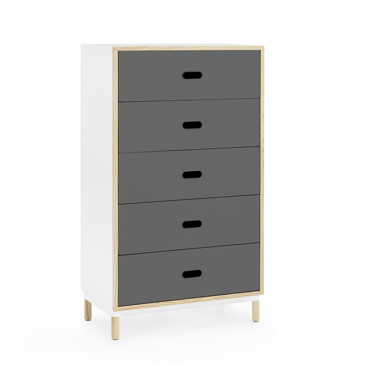 Kabino chest of drawers with 5 drawers by Normann Copenhagen in grey