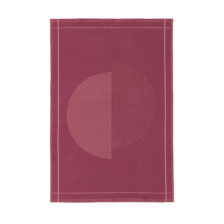 Normann Copenhagen - Illusion Tea Towel, burgundy