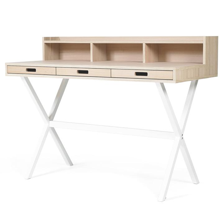 Hyppolite Secretary Desk by Hartô in oak white (RAL 9016)