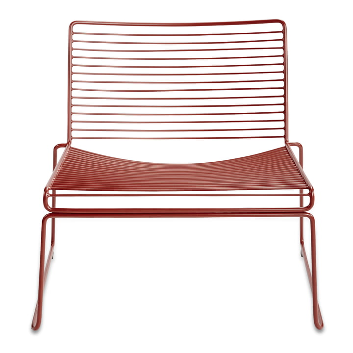 Hee Lounge Chair by Hay in rust