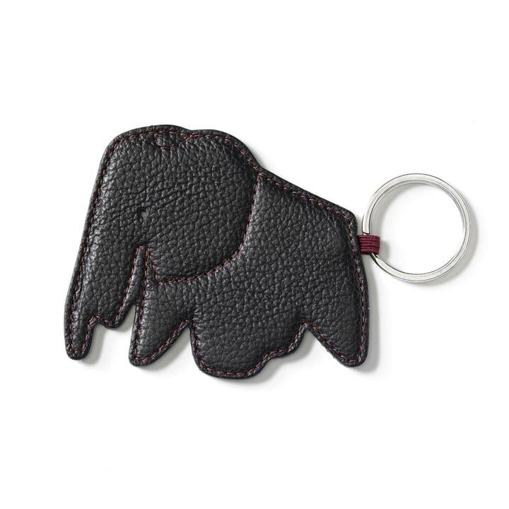 Key Ring Elephant by Vitra in nero