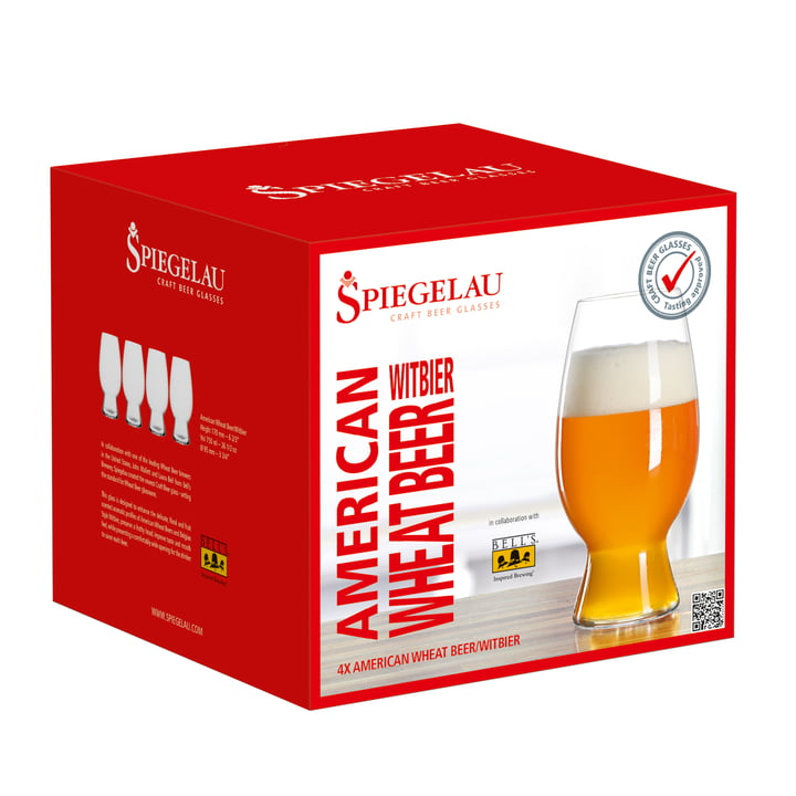Witbier Glass in the set of 4 from Spiegelau