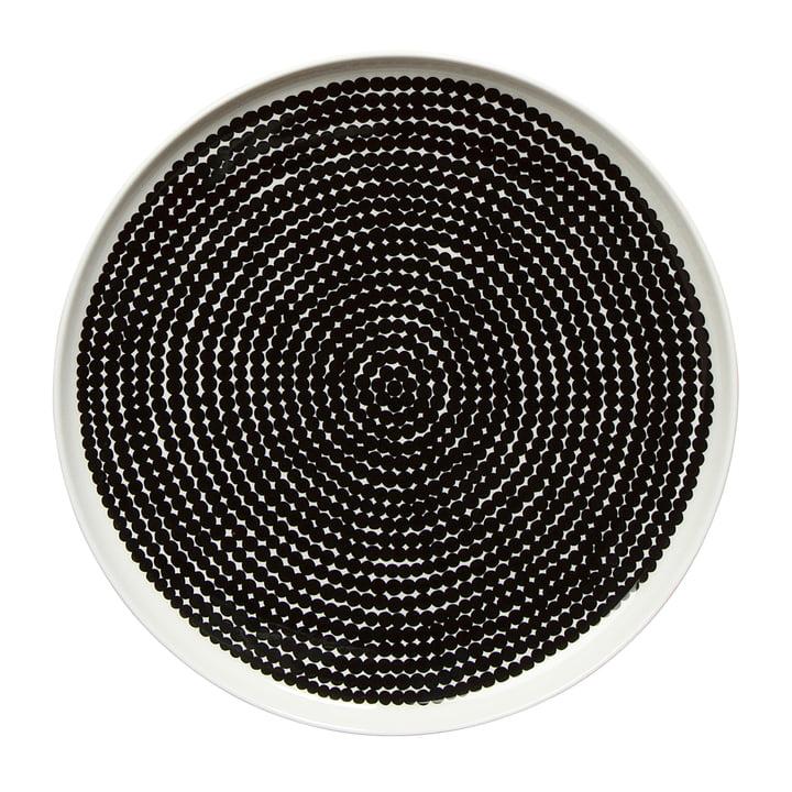 Marimekko - Oiva Räsymatto plate Ø 25 cm, white / black