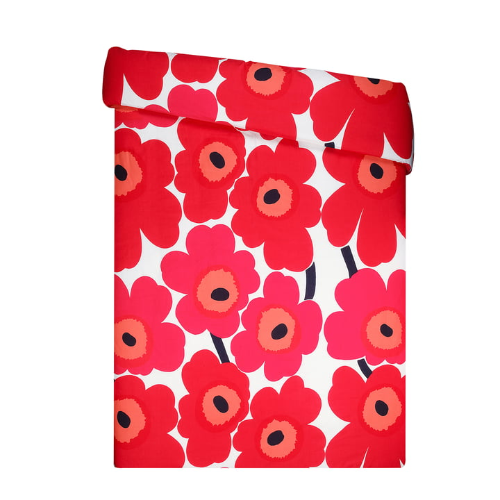 Unikko Duvet cover from Marimekko in red / white