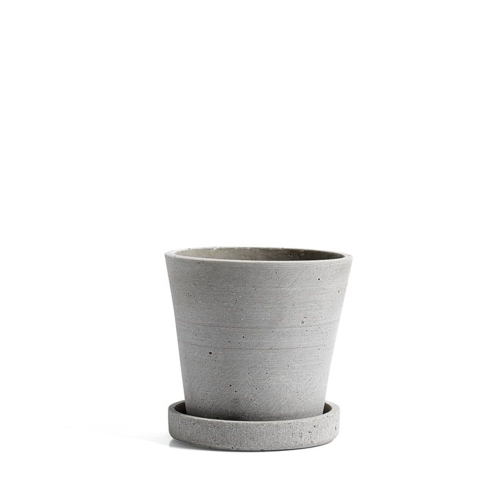 Hay - Flowerpot with Saucer in S, grey