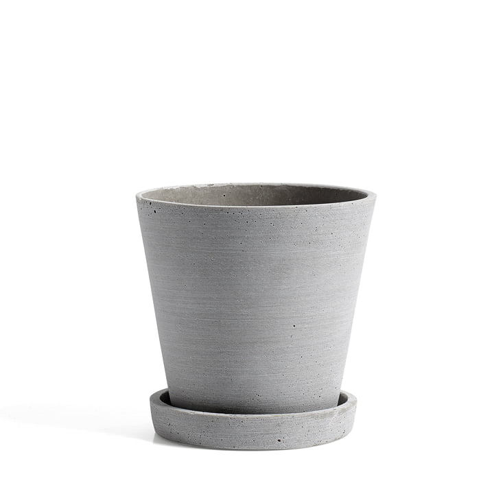 Hay - Flowerpot with Saucer M, grey