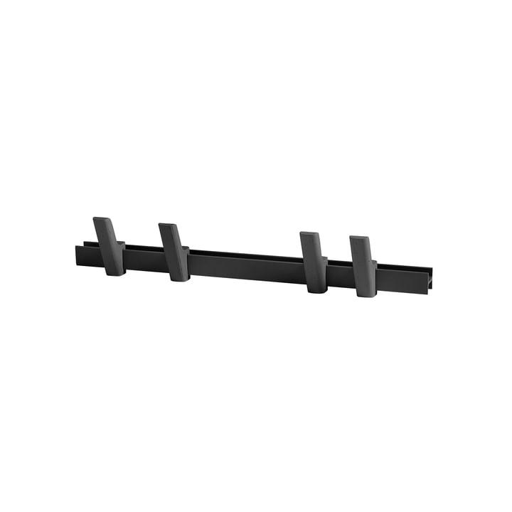 Hay - Beam L 60 cm, charcoal / Hook charcoal