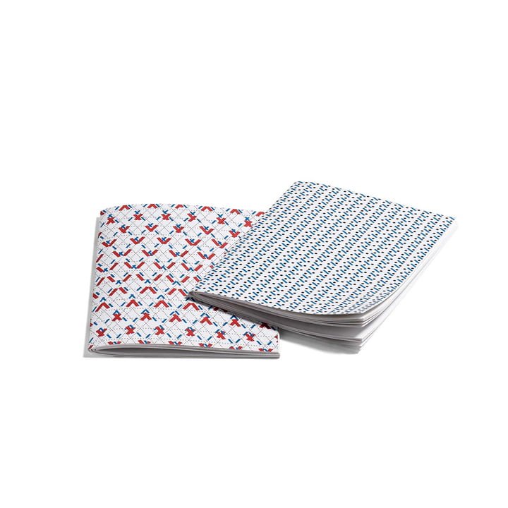 Hay - Line Dot Notebook S, red and blue