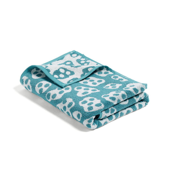 Hay - He She It, She bath towel, turquoise / beige