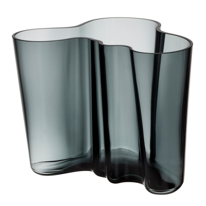 Aalto Vase Savoy 160 mm from Iittala in dark grey