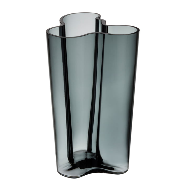 Aalto Vase Finlandia 251 mm from Iittala in dark grey