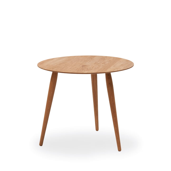 Play Round Wood Side Table Ø 45 cm by bruunmunch in oak nature