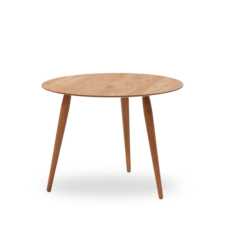 Play Round Wood Side Table Ø 60 cm by bruunmunch in oak nature