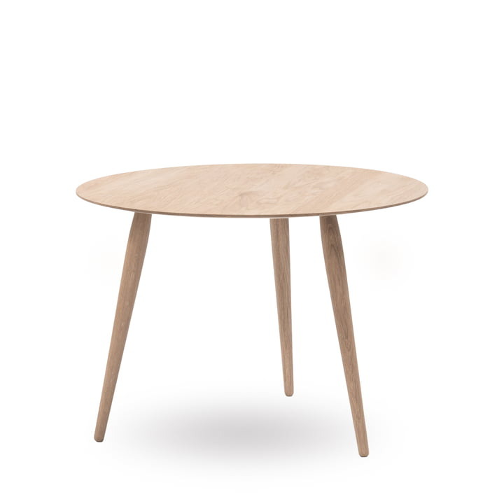 Play Round Wood Side Table Ø 90 cm by bruunmunch in oak soaped
