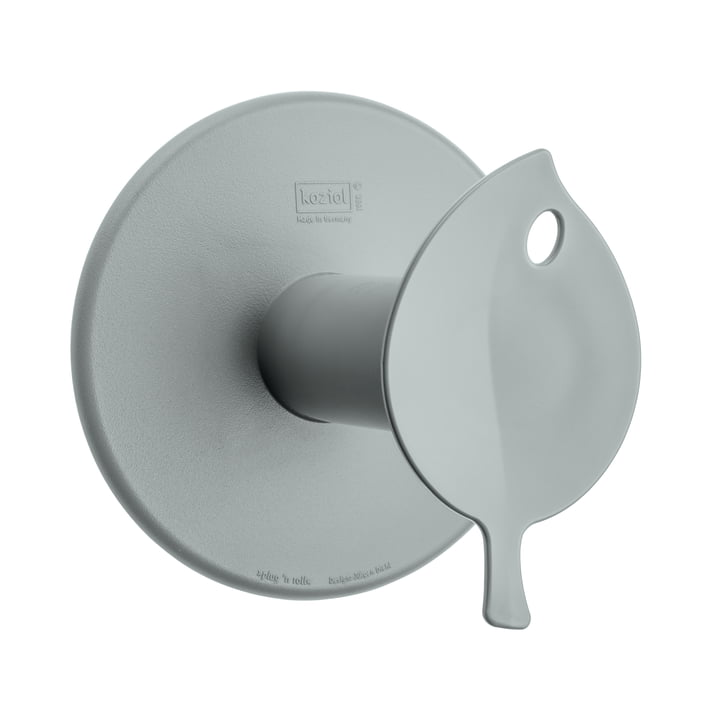 Sense Toilet Roll Holder by Koziol in grey