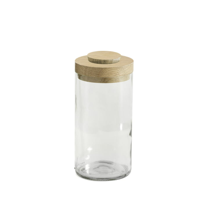 Vase & Jar of side by side in white / clear