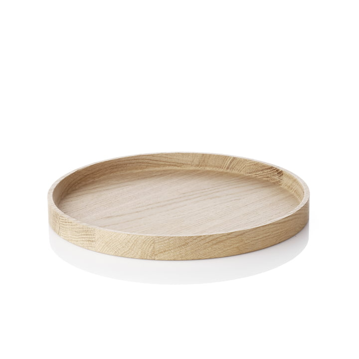 The applicata - Luna Tray serving tray, ∅ 28cm in oak wood