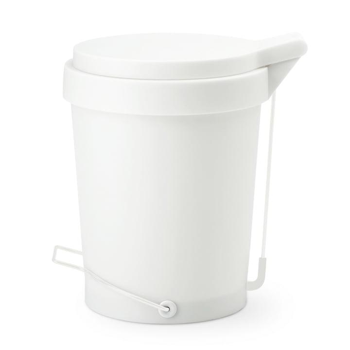 Depot4Design - Tip pedal bin 15 litres, Ø 29cm, white