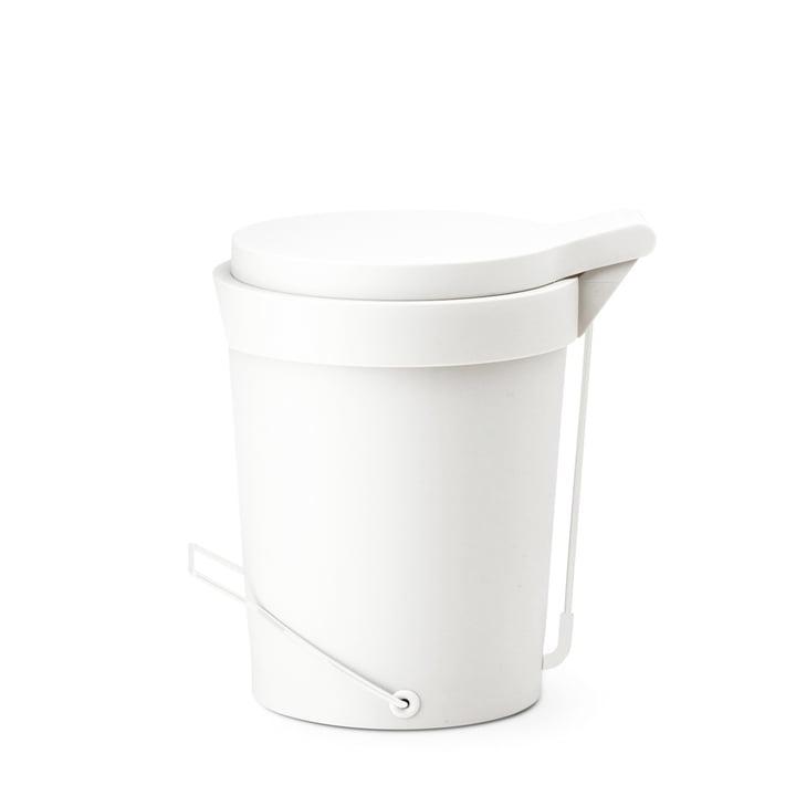 Depot4Design - Tip pedal bin 7 litres, Ø 22cm, white
