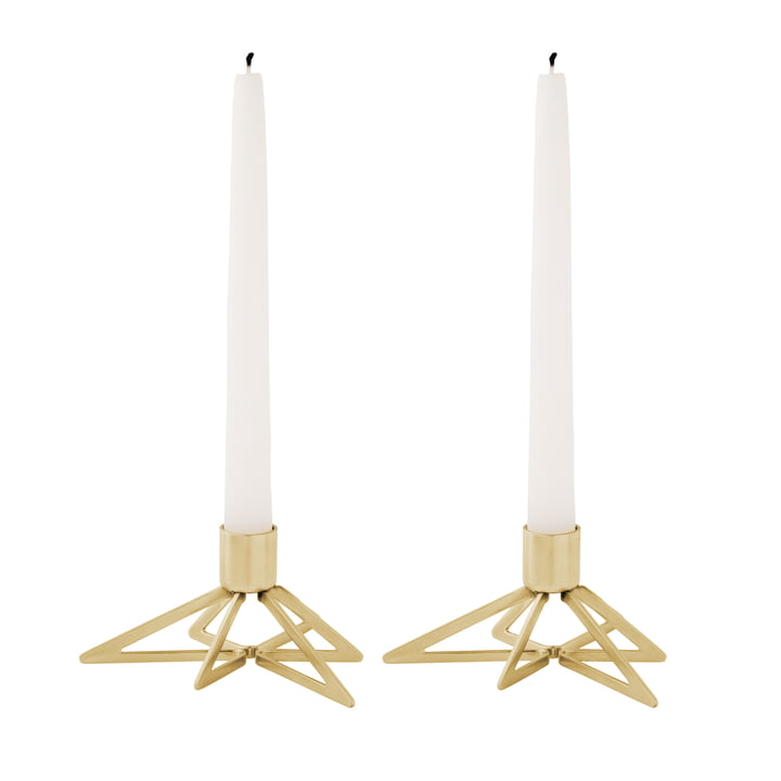 Tangle Star candleholder (set of 2) by Stelton