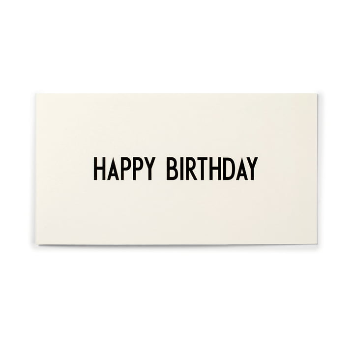 Design Letters - AJ Greeting Card, Happy Birthday