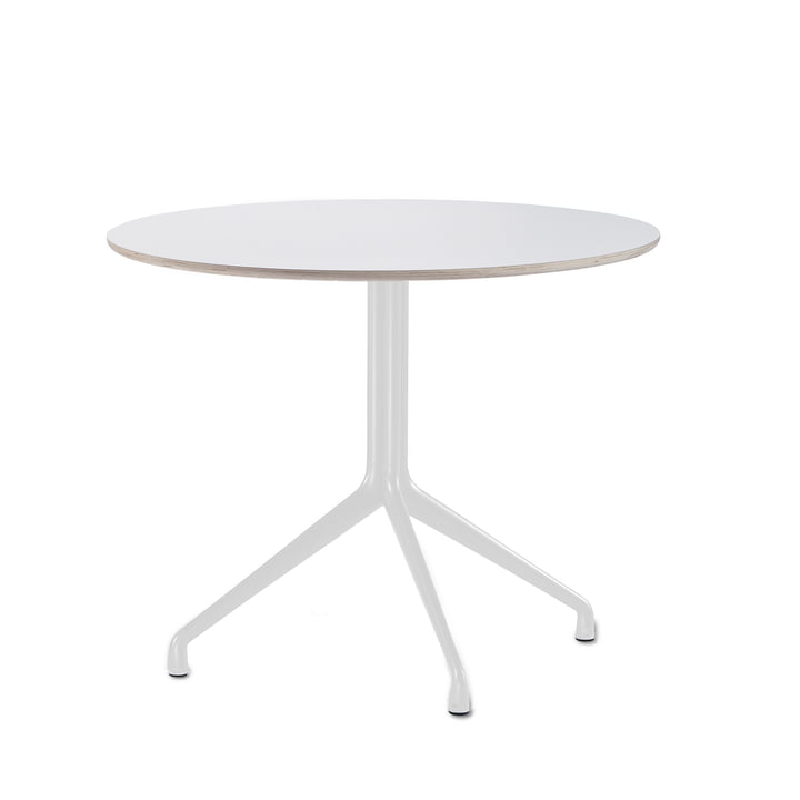 Hay - About A table AAT 20 bistro table, 3-legged, Ø80 x H73 cm, black / white (plastic glides)