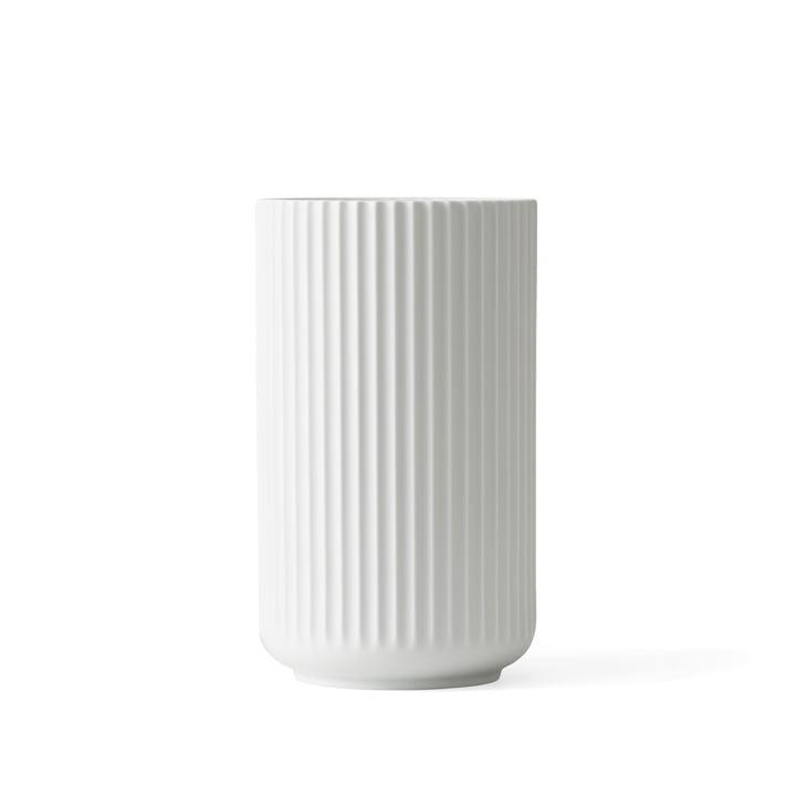 Lyngby Porcelæn - Lyngby Vase, white matte, H 15 cm