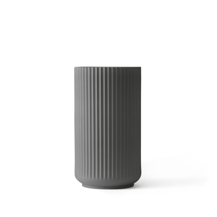 Lyngby Porcelæn - Lyngby Vase, dark grey, H 12 cm
