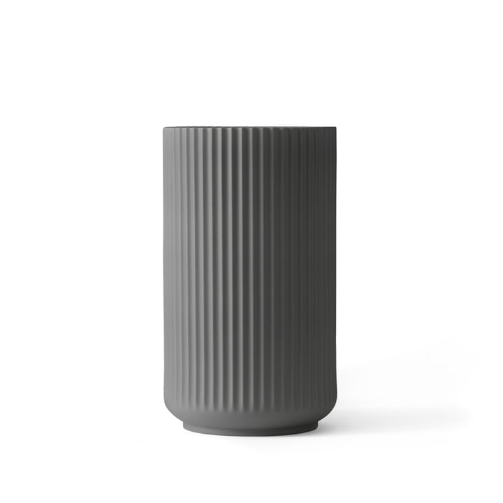 Lyngby Porcelæn - Lyngby Vase, dark grey, H 15 cm