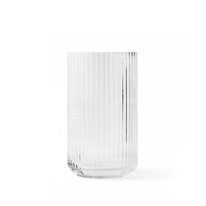 Glass vase H 15,5 cm from Lyngby Porcelæn in transparent
