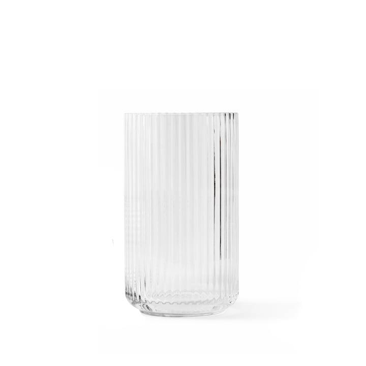 Glass vase H 12,5 cm from Lyngby Porcelæn in transparent