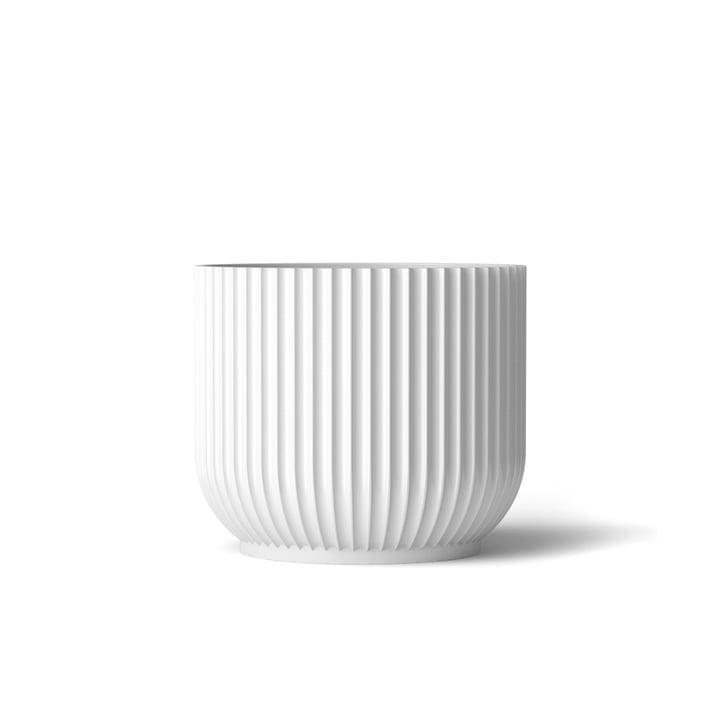 Flowerpot S by Lyngby Porcelæn in white