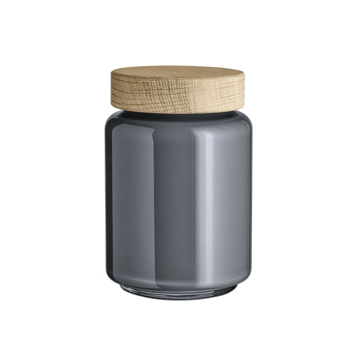 Palet Storage Jar 0.7 l by Holmegaard in Dark Grey